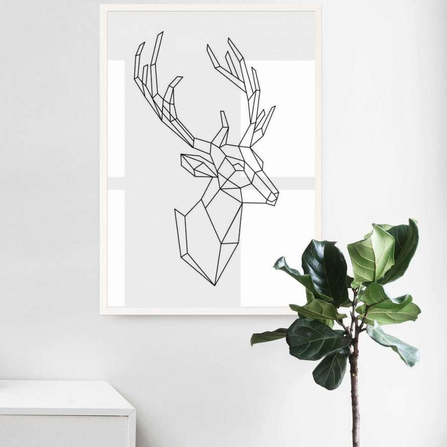 Deer (Clean White)