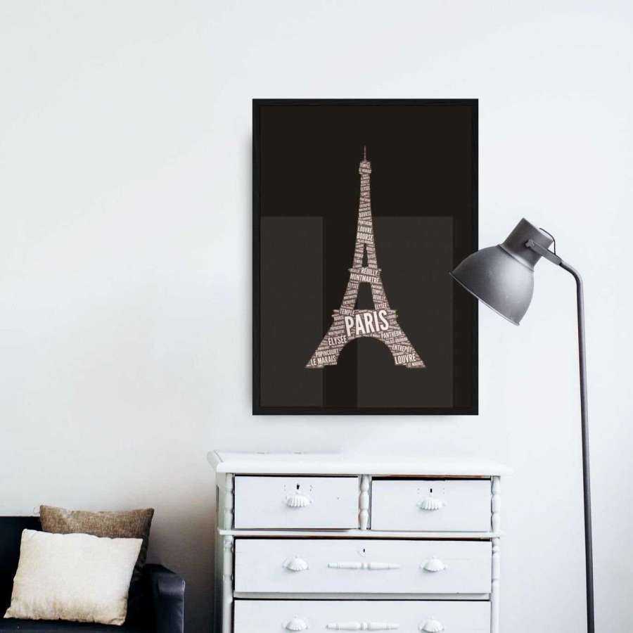 Newspaper Eiffel - Dark